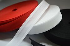 5 Metres 100% Cotton Bias Binding Tape 25mm (1 Inch) Width White And Colours