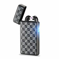 USB Electric Double Cross Windproof Rechargeable Pulse Shake Electronic Lighter