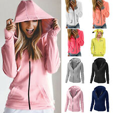 Womens Casual Coat Jacket Jumper Tops Long Sleeves Hoodies Sweatshirt Pullover