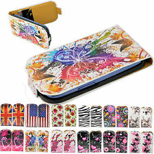 Flip Leather Mobile Phone Wallet Cover Case For Samsung Galaxy III S3 Mini i8190