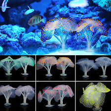 Silicone Artificial Coral Fish Tank Aquarium Plastic Water Decor Soft Ornament