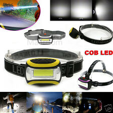 Wasserdicht COB Headlamp LED 2000LM Headlights AAA Flashlight Kopflampe Light US