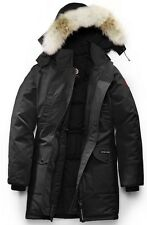 NEW CANADA GOOSE WOMENS TRILLIUM PARKA BLACK NOIR DOWN 6550L