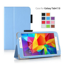 Folio Protective Wallet Case Cover With Stand For Samsung Galaxy Tab 4 7.0 Inch