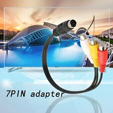 S-Video 7 Pin to 3 RCA Female RGB Component Cable Adapter for DVD TV/HDTV F5