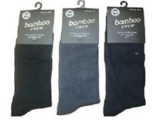 12 pair MENS Bamboo All Navy Blue Dress Business Crew SOCKS sz 6-11, 11-14 Size