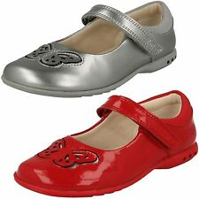 GIRLS CLARKS TRIXI WISH LEATHER RIPTAPE GLITZY MARY JANE FLAT PARTY SHOES SANDAL