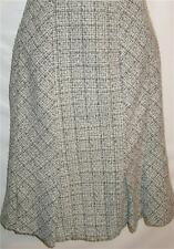 Skirt White Black Wool Blend Boucle' Short Pleated Size 14 Free Shipping to US