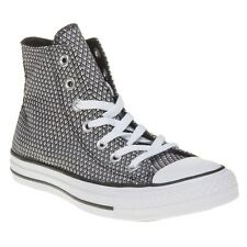 New Womens Converse Black Multi All Star Hi Textile Trainers Top Lace Up