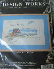 "Design Works Counted Cross Stitch Kit "" House by the Sea""  10 "" x 16"""