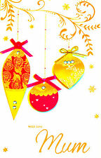"""Gorgeous Handmade Special """"Mum"""" Christmas Day Greetings Card ~Send Direct Free!!"""