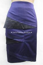 New KAREN MILLEN Silk BNWT £99 Colour Block Evening Pencil Party Skirt UK SZ 14