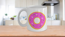 Donut Coffee Mug, Novelty Coffee Mug, Funny Coffee Mug, Sympathy Gift