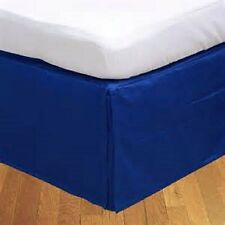 1 QTY Bed Skirt Valance Egyptian Cotton 1000 TC 15 Inch Drop Egyptian Blue Solid