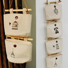 Organizer Underwear Fabric Cotton Pocket Storage Bags Door Wall Hanging Holder