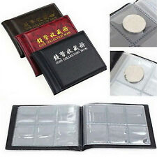 60 Coin Collection Holders Storage Collecting Money Penny Pockets Album Book