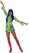 70er Jahre Hippie Dress Olivia NEW - Ladies Carnival Fancy Dress