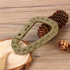 Outdoor Camping Carabiner D Shape Key Ring Clip Buckle Snap Hook Keychain