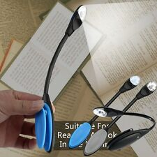 Flexible Double LED Book Reading Light Clip Arm Table Lamp Study Desk Light F5