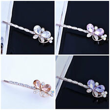 head jewelry Women Gold Filled Crystal crystal Butterfly hair Pin wedding