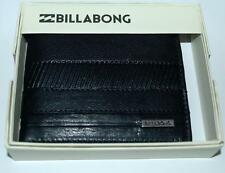 BILLABONG FLIP WALLET NEW PHOENIX 6 BLACK LEATHER MENS LOGO bifold Surf Skate
