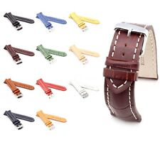 BOB Alligator Style Watch Band for Breitling, 18-24 mm, 11 colors, new!