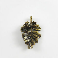 Vintage Bronze Alloy Leaf Shaped Pendants Charms Crafts Findings 28*19mm