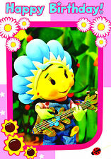 Fifi And The Flowertots Girl Any Age Birthday Greeting Card & Duck Blank Card