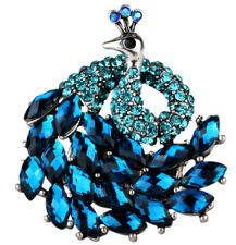 Peacock stretch ring cute animal bling scarf jewelry gifts for women mom 9 CN