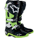 ALPINESTARS TECH 10 MOTOCROSS ATV DIRTBIKE MX BOOTS BLACK/GREEN MENS SIZE