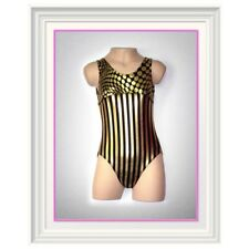 NEW Gymnastics Leotard- gold foil Dance Yoga Ballet