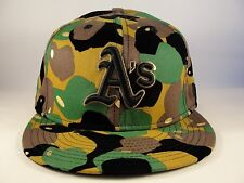 MLB Oakland Athletics New Era 59FIFTY Fitted Hat Cap Camo