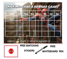 SPIDERMAN PERSONALISED REWARD CHART WITH FREE PEN AND MATCHING STICKERS 01
