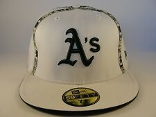 MLB Oakland Athletics New Era 59FIFTY Fitted Hat Cap White Green