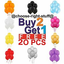 20 PLAIN LATEX BALOONS helium BALLOONS High Quality baloons Wedding Mothers Day