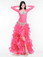 New Belly Dance Costume Outfit 3PCS of Bra&Belt&Skirt 34B/C 36B/C 38B/C 3 colors