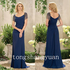 Elegant Beads Mother Of The Bride Dresses For Ladies Wedding Formal Gowns 2017