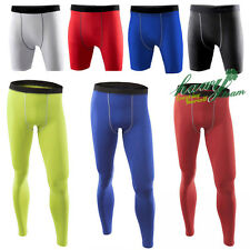 Men  Apparel Skin Tights Compression Base Under Layer Workout Long Pants Shorts