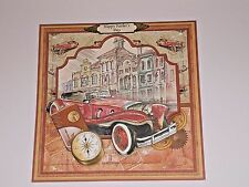 Handmade Greeting Card 3D All Occasion Vintage Style With A Vintage Car