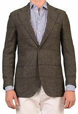 RUBINACCI Napoli Gray Windowpane Cashmere Blazer Jacket Sport Coat NEW