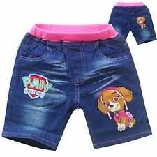 EX-STORES GIRLS SHORTS DENIM COTTON ELASTIC WAIST SHORTS TROUSERS PANTS,3 5 7 8Y