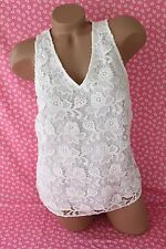Banana Republic Sleeveless Blouse White Lace Tank Top Cutwork EXQUISITE NWT