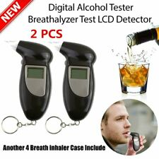 2XDigital Alcohol Breath Tester Breathalyzer Analyzer Detector Test Keychain LOT