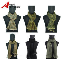 Camouflage Tactical Hunting Netting Veil Scrim Scarf Mesh Face Mask 7 colors