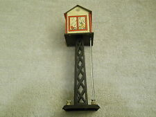Vintage Marx Model Train Tin Litho Light Up Switch Tower- Good Paint- Look
