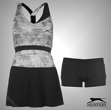 Ladies Branded Slazenger Breathable Mesh Strip Slam Tennis Dress Size 8 10 12 14