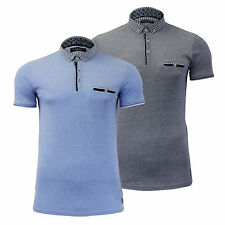 """Mens Brave Soul Collared Polo T Shirt """"KITKO""""Short Sleeve Top S-XL"""