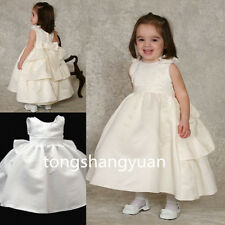 Newest Sleeveless Flower Girl Dresses Beaded Pink Princess Birthday Formal Gowns
