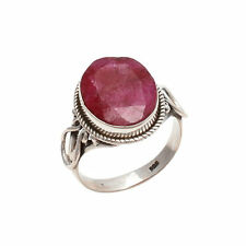 RUBY CHECKER SOLID 925 STERLING SILVER WONDERFUL RING CUSTOM SIZE 5,6,7,8,9,10