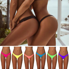 Sexy Ladies Bikini Bottom Brazilian Scrunch Ruched V Thong Beachwear Swimwear FO